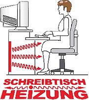 Schreibtischheizung mit angehehmer fu w rme for Schreibtisch vor heizung